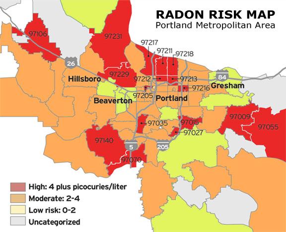 Radon Gas Map Images